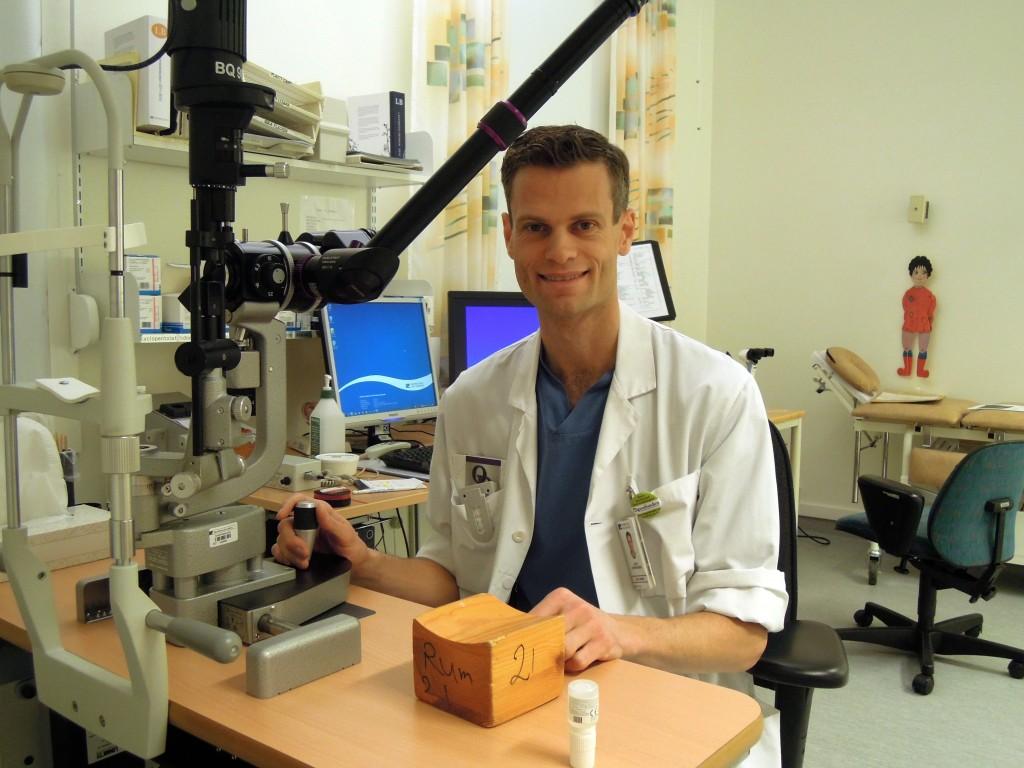 Forskaren och läkaren Gauti Jóhannesson ägnar all sin kraft åt att första vad som orsakar ögonsjukdomen glaukom.