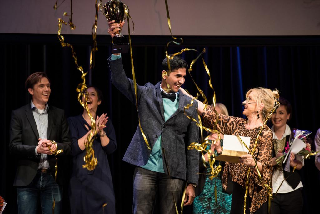 Sunil Kumar Ramamoorthy vann tävlingen Forskar Grand Prix 2015.
