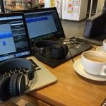Ljudredigering på fik i Visby