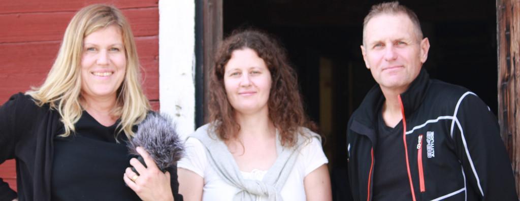Lisa Beste träffade med Camilla Vikenros och Håkan Sand på Grimsö forskningsstation.